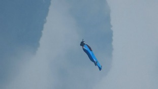On a wingsuit and a prayer: BASE Jumping Championship takes off in China