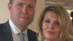 Derek Whyteside died last month after being assaulted. He is pictured with his partner Michelle Beddall.