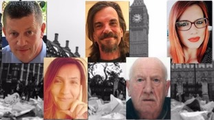 Victims of the Westminster attack.