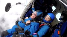 High-flying Harry's first parachute jump since D-Day