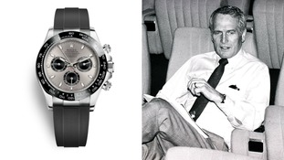 Hollywood actor and race car driver Paul Newman was given the watch (not pictured) by his wife Joanne Woodward while he was filming 'Winning'.