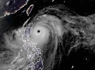 Typhoon Mangkhut as it approaches the Philippines