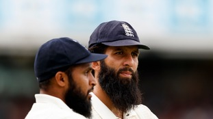 Moeen Ali (c) has accused an Australian player of calling him 'Osama'.