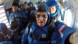 Mr Read's last sky dive was in 1944 during D-Day.