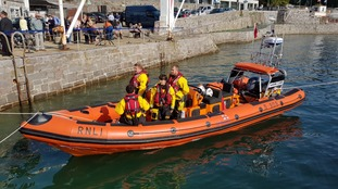 RNLI volunteers on a lifeboat