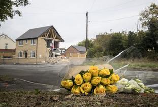 Barnsley lorry crash scene