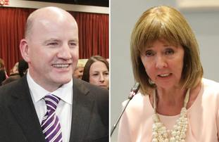 Sean Gallagher and Senator Joan Freeman