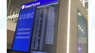 Blank screens at Bristol Airport after cyber attack