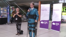 Exoskeleton marathon man opens Norfolk Disability Pride event