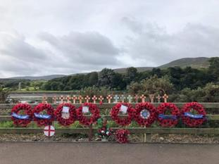 New wreaths were erected on Sunday morning at the site
