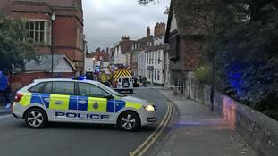 Cordons in Salisbury after two fall sick in restaurant 'medical incident'