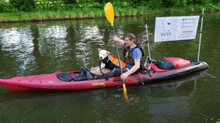 Meet 'Pirate Max' - the dog joining his owner on a 200 mile charity kayak