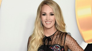 American country singer Carrie Underwood.