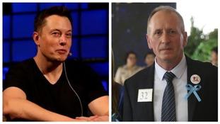 Elon Musk and Vernon Unsworth.