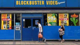 Blockbuster video store in central London