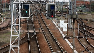 Railway lines at Cambridge City train station