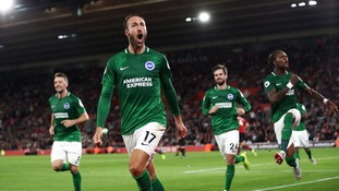 Premier League: Late Murray penalty rescues point for Brighton at Southampton