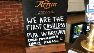 Landlord claims small pub near Suffolk is first in UK to stop taking cash payments