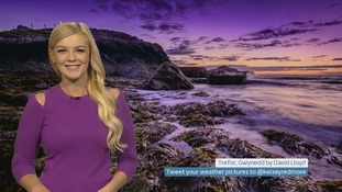 Wales weather: Cloud and rain moving eastwards and drying up overnight
