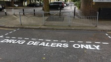 'Dealers only' parking space highlights London drug problem