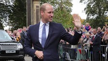 Prince William unveils statue to spy who saved thousands of Jews