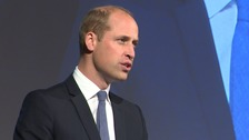 Prince William delivers his speech.