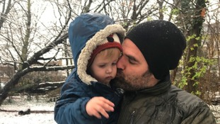 Rob Delaney and his son Henry.