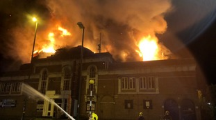 Firefighters tackle blaze at old cinema in Birmingham high street