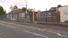 Delivery driver crushed by own van outside primary school