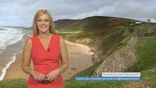 Wales weather: A windy day with gales and a spell of rain