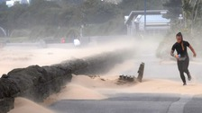 Sand blowing