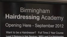 Hair Academy opening sign