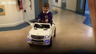 Hospital ward car brings smiles to young patients
