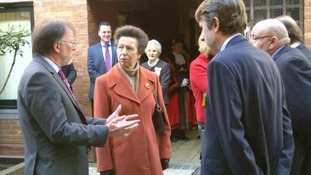 Princess Anne at Bristol's Addiction Recovery Agency centre