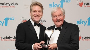 Sir Kenneth Branagh and Richard Briers worked together on various classic plays