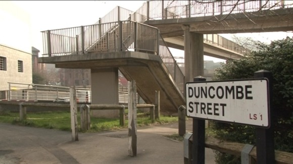 Duncombe Street, Leeds where a young woman was sexually assaulted