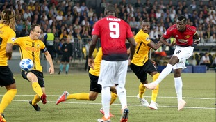 Paul Pogba inspired Manchester United to a big away win in their Champions League opener against Young Boys