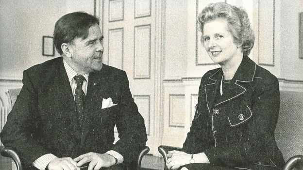 Former North Devon MP Tony Speller meets Margaret Thatcher