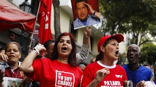 The return of Hugo Chavez prompted celebrations in some neighbourboods