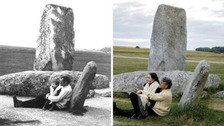 Then and now photos mark Stonehenge centenary project