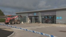 Detectives are appealing for information after thieves steal cash machine.