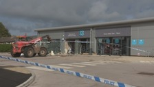 Thieves use forklift to steal cash machine containing tens of thousands of pounds