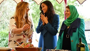 Meghan hosted the launch of 'Together' at Kensington Palace.