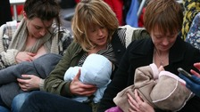 Breastfeeding mothers in Jersey encouraged to feed their children in public