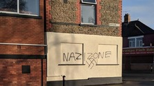 Nineteen-year-old arrested over far-right graffiti
