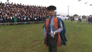 Former Royal Marine Mark Ormrod receives two honorary degrees in just one week