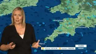 Weather: heavy showers and some thunder