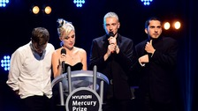 Wolf Alice accept the 2018 Hyundai Mercury Music Prize