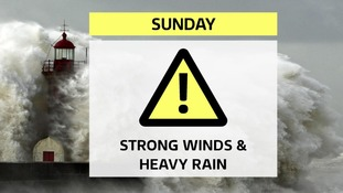 Strong winds and heavy rain forecast for Sunday as warnings are issued