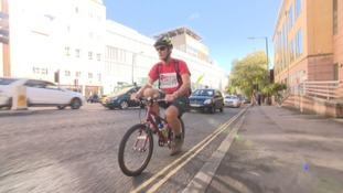 Penzance dad rides daughter's bicycle from Bristol to Land's End